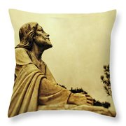 Jesus Teach Us To Pray - Christian Art Prints Throw Pillow
