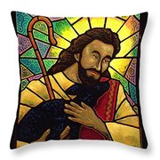 Jesus The Good Shepherd Throw Pillow