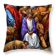 Jesus Tormented Throw Pillow