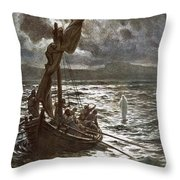 Jesus Walking Upon The Sea Throw Pillow