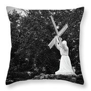Jesus With Cross Throw Pillow