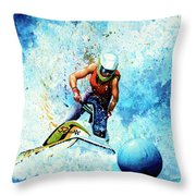 Jet Blue Throw Pillow by Hanne Lore Koehler