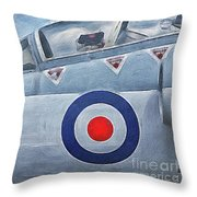 Jet Fighter By John Springfield Throw Pillow