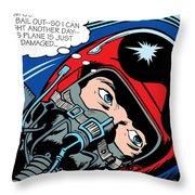 Jet Pilot Throw Pillow