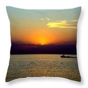 Jet Ski Reflection Throw Pillow