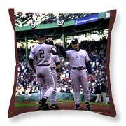 Jeter And Torre Throw Pillow