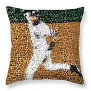 Jeter Walk-off Mosaic Throw Pillow