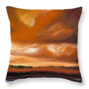 Jetties On The Shore Throw Pillow