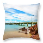 Jetty By The Sea Throw Pillow
