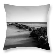 Jetty In The Sea Throw Pillow