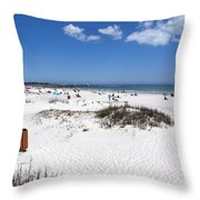 Jetty Park At Cape Canaveral In Florida Usa Throw Pillow