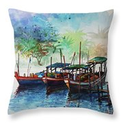 Jetty_01 Throw Pillow
