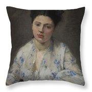 Jeune Femme Throw Pillow