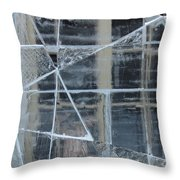 Jeux De Glace I / Ice Setting I Throw Pillow