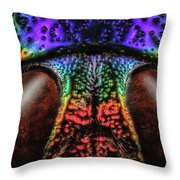 Jewel Beetle Detail Throw Pillow