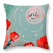 Jewel Moon Throw Pillow