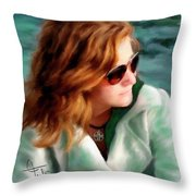 Jewel Of Contemplation Throw Pillow