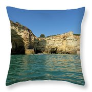 Jewel Toned Ocean Art - Gliding By Sea Caves And Secluded Beaches Throw Pillow