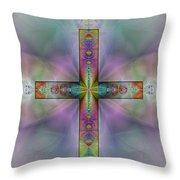 Jeweled Cross Throw Pillow