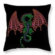 Jeweled Dragon Throw Pillow