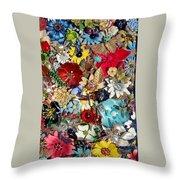 Jeweled Garden Throw Pillow