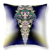 Jeweled Icicle Fractal 136 Throw Pillow