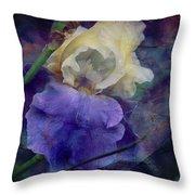 Jeweled Iris Throw Pillow