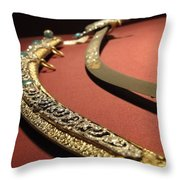 Jeweled Sword Throw Pillow