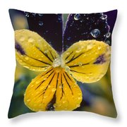 Jewelled Pansy Throw Pillow