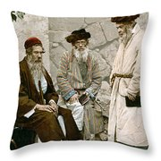Jews In Jerusalem, C1900 Throw Pillow