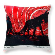 Jezebel And Me Throw Pillow