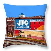 Jfg Coffee Throw Pillow by Steven  Michael