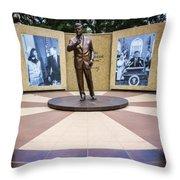 Jfk Tribute Fort Worth Throw Pillow