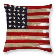 Jfk's Pt-109 Flag Throw Pillow