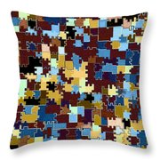 Jigsaw Abstract Throw Pillow