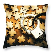 Jigsaw Of Misconduct Bribery And Entanglement Throw Pillow