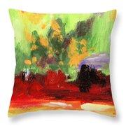Jill's Abstract Throw Pillow