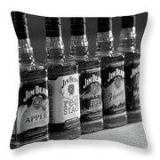 Jim Beam Bottles Throw Pillow