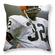 Jim Brown, Cleveland Browns, Signed Throw Pillow