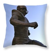 The Jim Brown Statue, Cleveland Browns Nfl Football Club, Cleveland, Ohio, Usa Throw Pillow