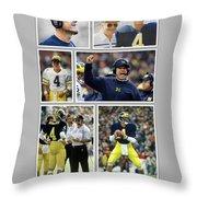 Jim Harbaugh A Michigan Man Throw Pillow
