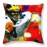 Jim Harbaugh  I Guarantee Throw Pillow