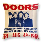 Jim Morrison And The Doors Poster Collection 3 Throw Pillow