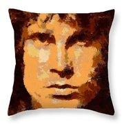 Jim Morrison - Digital Art Throw Pillow