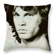 Jim Morrison Throw Pillow