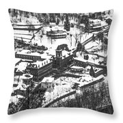 Jim Thorpe Pennsylvania In Winter In Black And White Throw Pillow