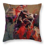 Jima Memorial Washington Dc Throw Pillow