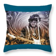 Jimi Hendrix - Legend Throw Pillow