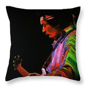Jimi Hendrix 4 Throw Pillow