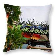 Jimmy Buffets Margaritaville In Las Vegas Throw Pillow by Susanne Van Hulst